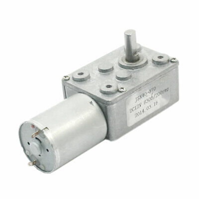 Reduction Ratio 8300RPM/200RPM Connecting Worm Gear Motor DC12V