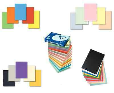 A4 TOP QUALITY 160gsm CLAIREFONTAINE COLOURED CRAFT PRINTER COPIER HOBBY CARD