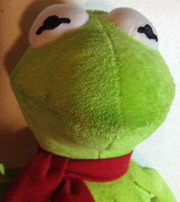 """18"""" Muppets Kermit the Frog Plush Doll Red Scarf Fun Collectible"""