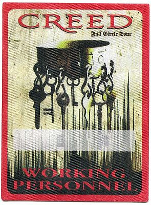 CREED 2009 Full Circle Concert Tour Backstage Pass!!! Authentic Original OTTO #4