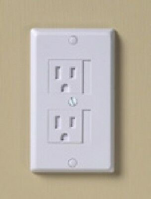 KidCo Universal Automatic Electrical Outlet Baby Safety Cover 3 Pack -WHITE