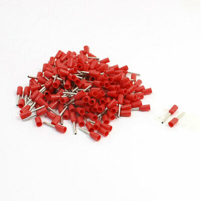 22AWG Cable E0508 Red Pre Insulating Ferrules Crimp Wiring Terminals 190 Pcs