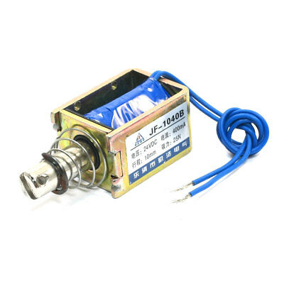 DC24V 400mA 25N/10mm Pull Push Type Two Wired Solenoid Electromagnet