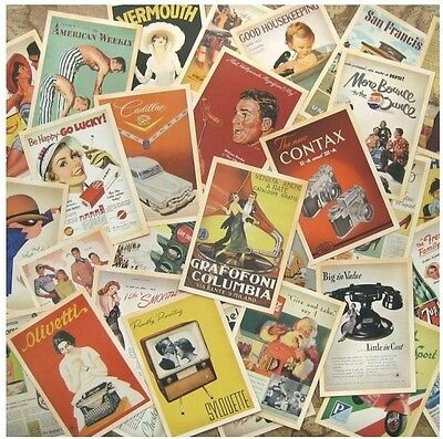 Lot of 32 Vintage Post Gifts card Postcards Advertising History Retro Album Deco