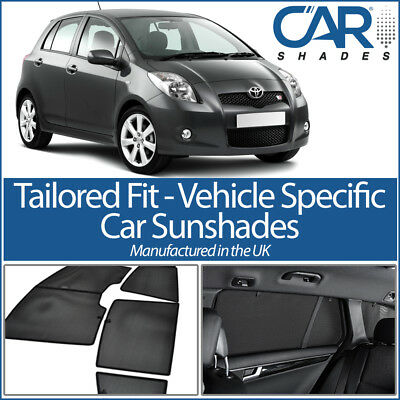 Toyota Yaris 5dr 05-11 UV CAR SHADES WINDOW SUN BLINDS PRIVACY GLASS TINT BLACK