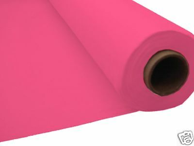 100ft BRIGHT PINK Plastic Banquet Roll Table Buffet BA