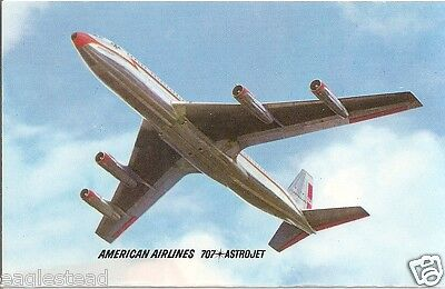 Airline Postcard - American - B707 AstroJet - Airline Issued (P3417)