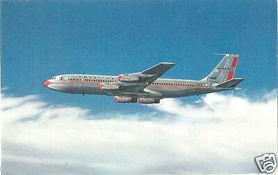 Airline Postcard - American - B707 - Airline Issued (P3416)