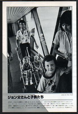 1981 John Deacon & Family Queen JAPAN mag photo pinup picture q10006mp