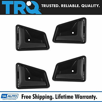 Door Handle Interior Black Front & Rear Kit Set of 4 for Sidekick Tracker 4 Door
