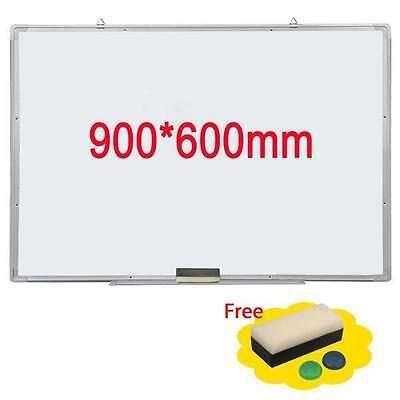 "35x23"" Single Side Magnetic Writing Whiteboard Dry Erase Board Office W/ Eraser"