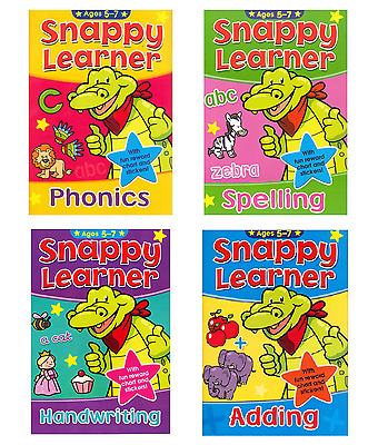 Snappy Learner 4 Educational Learning Books 5-7 year olds Maths Spelling Writing