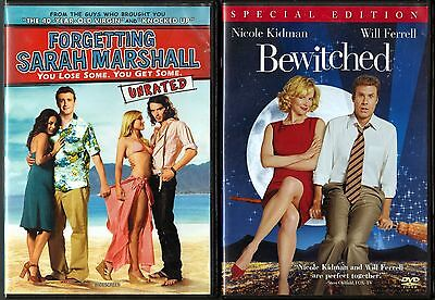 Forgetting Sarah Marshall (DVD, 2008, WS) & Bewitched (DVD, 2005, Spec. Ed., WS)