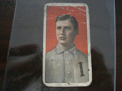 1909-1911 T206 Charley Carr Polar Bear Back Indianapolis RARE Vintage Tobacco