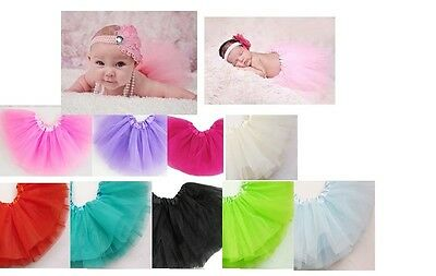 Baby Tutu Skirt Ballerina 5 Layers of Chiffon Newborn - 12 Months Photo Op Pink