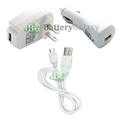 USB Cable+Car+Wall Charger for Phone Samsung Galaxy S3 S4 S5 S6 S7 Mini Active