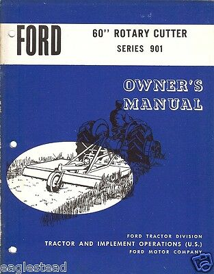 Farm Manual - Ford - 901 - 60 inch Rotary Cutter - Owner's (FM230)
