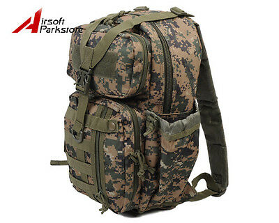 Military Tactical Molle Backpack Rucksack Hiking Hunting Camping Bag Digi WD