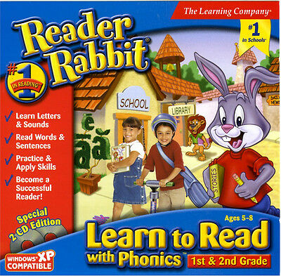 Reader Rabbit Learn to Read with Phonics PC 1st and 2nd grade 8/7/Vista/XP MAC