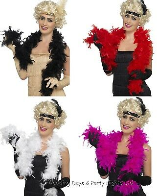 5ft Feather Boa 20s Flapper Ladies Fancy Dress Party Show Girl Charleston Gatsby