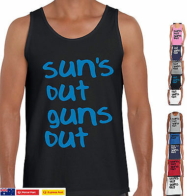SUN'S OUT GUNS OUT Funny t-Shirts  22 jump street suns out Singlet Men's Ladies