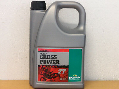 14,73€/l  Motorex Cross Power 2T 4 L vollsyn 2Taktmischöl