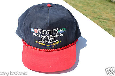Ball Cap Hat - Wright's - Seed Feed Services West McGillivray Ontario (H1134)