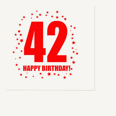 Happy 42nd Birthday Age 42 Party Supplies Luncheon Lunch Dinner