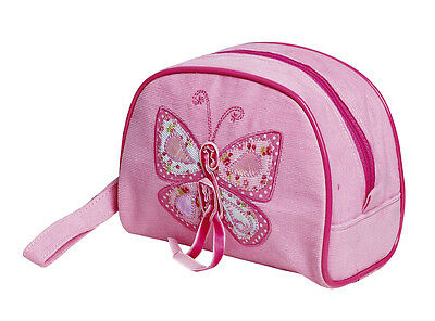 10 x Job Lot Girls Pink Butterfly Gift Make Up Cosmetic Bag Party Bag MC-7600