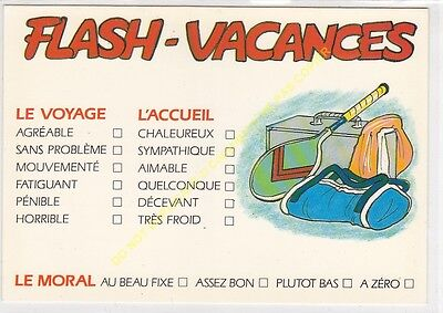 Cp Humour Serie Flash Vacances