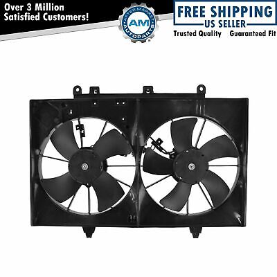 Radiator Dual Cooling Fan Assembly For 01 04 Ford Escape Mazda