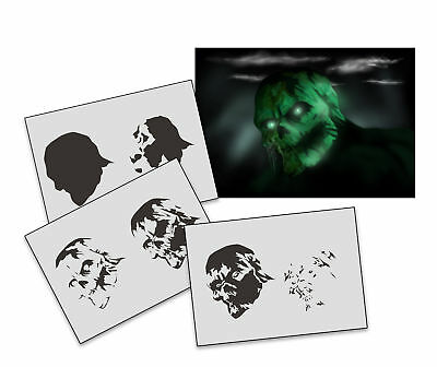 Step by Step Airbrush Schablone AS-281 Zombie ~ Tattoo Stencil ~ UMR-Design
