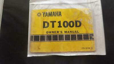 Yamaha DT1000D DT100 D 1976 Owners Manual Handbook
