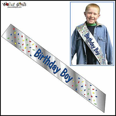 Foil Sash Birthday Boy Blue Ideal for Birthday Party