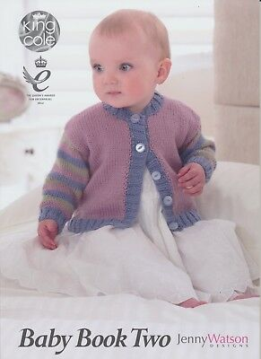 King Cole Baby Book Two Knitting Book Double Knit Patterns Prem to 2 yrs