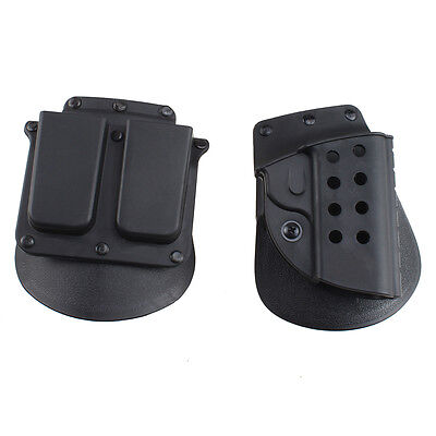 Quick Tactical Right Hand Holster Magazine Pouch for Colt 1911 Black
