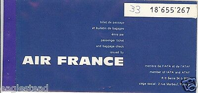Airline Ticket - Air France - 2 Flight - 1961 (T292)