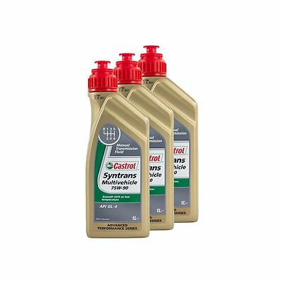 3 Litres Castrol Syntrans Multivehicle 75W90 Fully Synthetic Gear Oil - Vauxhall