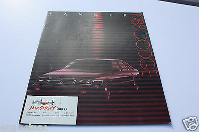 Auto Brochure - Dodge - Lancer - 1988 (AB314)