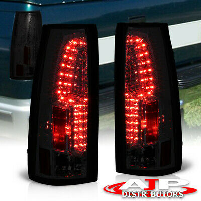 88-98 Chevy Gmc C/K C10 Full Size Truck Suv All Smoke Lens Led Tail Lights Pair