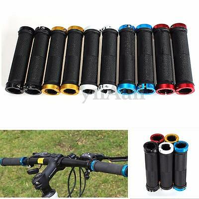 MTB BMX Cycling Bicycle Road Mountain Bike Lock On Handle Bar End Grips Black