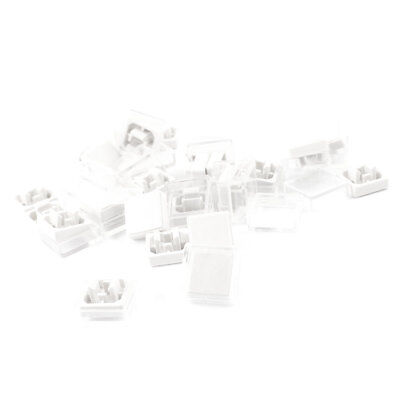 25 Pcs Square Tactile Button Caps Covers White Clear for 12x12x7.3mm Tact Switch