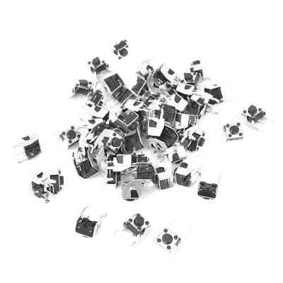 55 Pcs DIP PCB Fixed Bracket Sied Mounting Tact Switch Momentary 6x6x5mm
