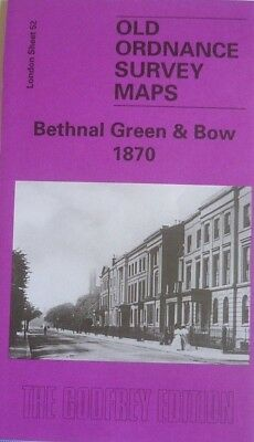 Old Ordnance Survey Map Bethnal Green & Bow near Stepney London 1870 S52 New
