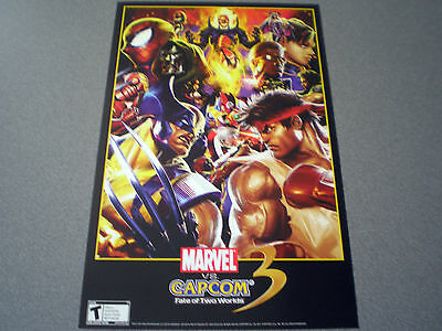 Marvel vs. Capcom 3: Fate of Two Worlds Poster    NEW