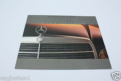 Auto Brochure - Mercedes-Benz - Color Upholstery - 1985 1990 (AB356)