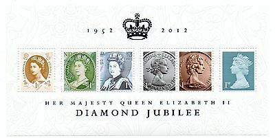 GB 2012 Queen's Diamond Jubilee unmounted mint mini / miniature sheet MNH stamps