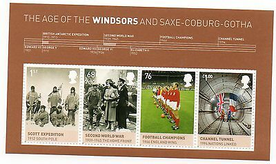 GB 2012 Age of the Windsors unmounted mint mini / miniature sheet MNH m/s stamps