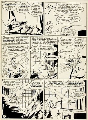 Shuster Studio GOLDEN AGE SUPERMAN PG 10 Original Art (1944)