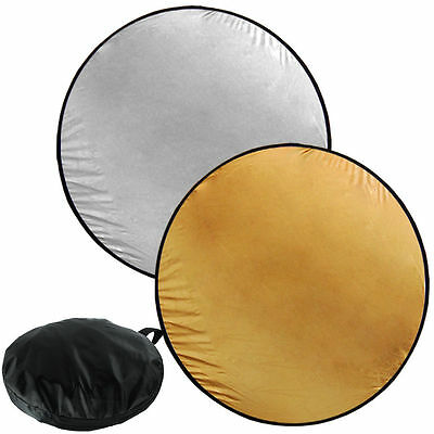 """Lusana Studio Photography 43"""" Multi Disc 2-in-1 Collapsible Light Reflector"""